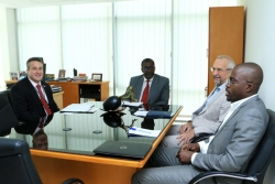 Representatives of USAID West Africa bureau and the US embassy in Côte d'Ivoire visit the African Water Association (AfWA)