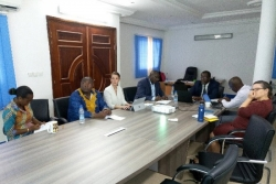 The Representatives of the Bill and Melinda Gates Foundation (BMGF) and the USAID West Africa Bureau carry out a work visit to the African Water Association (AfWA)